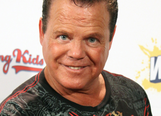 The 68-year old son of father (?) and mother(?), 183 cm tall Jerry Lawler in 2017 photo